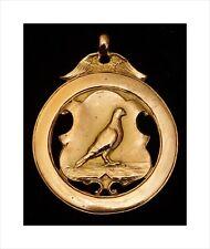 Superb 9ct Gold Racing Pigeon Medal. Highfield Homing Society, Gateshead 1938.