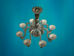 Scale 1/48th Dolls House Miniature Crystal Chandelier Light Fitting Lampshade