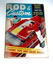 May 1958 ROD & CUSTOM Magazine — George Barris Chrome Tape & Color Dyeing
