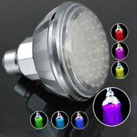 7 Color Romantic Adjustable Automatic LED Shower Head Facut Home Bathroom US