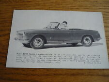 "FIAT 1500 SPIDER cartolina come il commercio CARD ""BROCHURE"" JM"