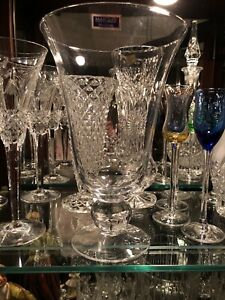 """Marquis by Waterford  10"""" Wide Mouth Footed Crystalline Bud Vase"""