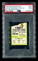 PSA NBA 1987 Playoff Ticket Boston Celtics Pistons - Larry Bird Steals the Ball!