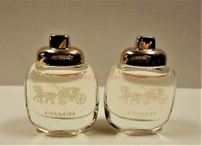 2 Coach New York  Eau de Parfum Mini Splash Bottles 4.5 ml .15 fl oz each