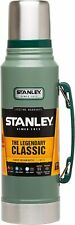 Stanley Thermos Classic Vacuum Bottle Hammertone Green 1.1 Qt - Stainless Steel