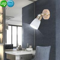 Wand Leuchte Flexo-Strahler Schlaf Zimmer Lampe Spot beweglich GOLD Messing Glas