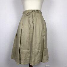 Banana Republic Women Sz 0 Skirt Full Pleated Drawstring Side Zip Linen Lined