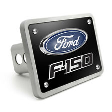 """Ford F-150 3D Logo Black 3/8"""" Thick Solid Billet Aluminum Tow Hitch Cover"""
