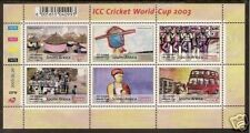 SOUTH AFRICA 2003 ICC CRICKET WORLD CUP SHEET of 6  MNH