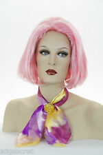 Pink Blonde Medium Straight Costume Fun Color Wigs