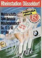 BL 89/90 Fortuna Düsseldorf - Borussia Mönchengladbach