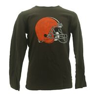 Kids Youth Size Cleveland Browns Football NFL Long Sleeve Shirt New NO TAGS