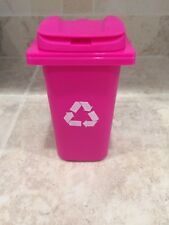 For American Girl Or Any 18 Inch Doll House Accessory Pink Recycle Bin Can New