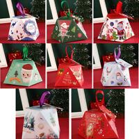 Gift Package Kids Favors Paper Carrier Christmas Decoration Xmas Bags Candy Box