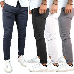 Pantaloni uomo slim fit primavera estate tasche america blu nero grigio bianco