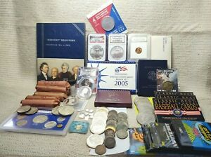 Great Lot of Coins Silver Gold Certified etc You get Everything Pictured 20095