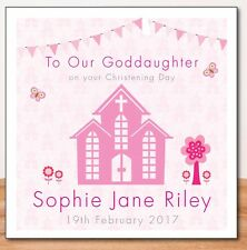 PERSONALISED CHRISTENING CARD - GODDAUGHTER