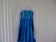 NEW Frozen Elsa Princess Dress Gown Costume 3 Piece Separate Cape, Crown sz 7/8
