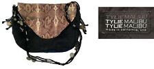 "Tylie Malibu Gypsy Caravan Sultan Crossbody Bag Black & Python ""Sold Out"""