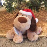 Hallmark Animated Dog Jingle Tail Pup Plush Christmas Barks Wags Tail Musical