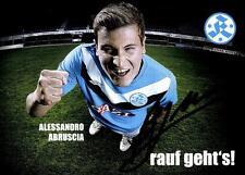 Alessandro abruscia AUTOGRAPHE CARTE Stuttgart KICKERS 2011-12 Original +a11730