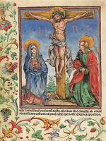 HANS BURGKMAIR GERMAN CHRIST CROSS OLD ART PAINTING POSTER PRINT BB4951A