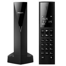Telefono Cordless Philips Linea V con Schermo LCD Retroilluminato Vivavoce Nero