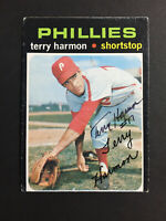 Terry Harmon Phillies Signed 1971 Topps Baseball Card High #682 Auto Autograph
