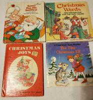80's Christmas Mini Book Lot Vintage Joys Words Tiny Elf Santa Has Sniffles