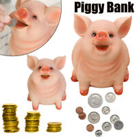 Piggy Bank Resin Craft Coin Bank Money Pig Shaped Box Gifts Toy Box For Kids UK