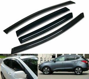 For 2010-2015 Hyundai Tucson Smoke Window Vent Visor Sun Rain Guards Deflectors