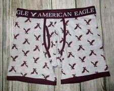 Mens American Eagle Classic Trunk Gray Maroon Boxer Brief Size S (29/31)