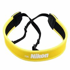 Skidproof Neoprene Neck Strap for Nikon DSLR Camera Binoculars Yellow!!