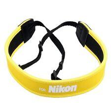 Skidproof Neoprene Neck Strap for Nikon DSLR Camera Binoculars Yellow!!
