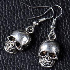 Fashion Women Punk Skull Gothic Drop Dangle Earrings Hoop Retro Jewelry Gift