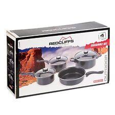 REDCLIFFS 7 PIECE NON STICK COOKWARE COOKING CASSEROLE POTS PAN SET WITH LIDS
