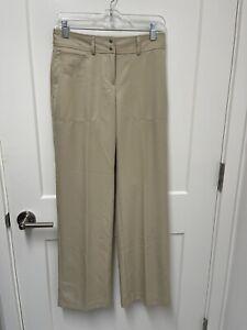 Women's Izod XFG Golf Pants Size 2 Regular Tan Khaki EUC!!