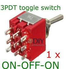 1 x 3PDT ON-OFF-ON toggle switch - switch a levetta pedal clone DIY