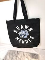 SHAWN MENDES Tote Bag w/ Zip,Black Blue Lion  from the concert tour. Free Ship!