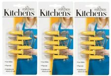 3 NEUVES Fox Run cuisine jaune maïs étuis 6 ct. W / ACIER INOXYDABLE DENTS 5401