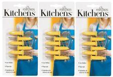 3 New!! Fox Run Kitchens Yellow Corn Holders 6 ct. w/ stainless steel tines 5401