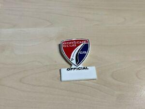 Vintage Porsche Club GB Official Plastic Name Badge