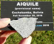 """1st on eBay!  8.25g  """"Aiquile"""" Meteorite slice from Nov 20, 2016 fall in Bolivia"""