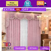 Swag Pelmet Valance Pink Bedroom Curtains Drapes Sheer Fabric Eyelets Rod Pocket