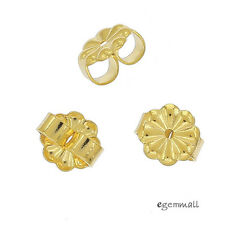 6x 22kt Gold Plated Sterling Silver Daisy Earring Butterfly Backs Clutches 99125