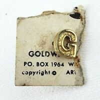 1964 Barry Goldwater Gold Tone Political Lapel Pin