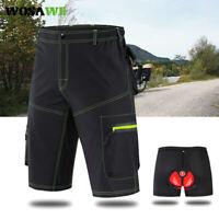 Herren Radfahren Baggy Shorts MTB Mountainbike Riding Beiläufig Hose Komfortabel