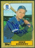 Original Autograph of Mike Kingery of the Kansas City Royals on a 1987 Topps