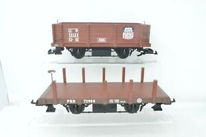 Bachmann G Gauge - Rake of 2 Wagons - Open and Flat Wagons - Unboxed