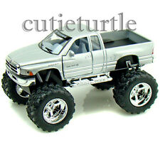Kinsmart Off Road Big Foot Monster Dodge Ram 1500 PickUp Truck 1:44 Silver